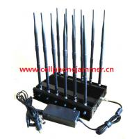 12-band Jammer GSM DCS Rebolabile 3G 4G WIFI GPS and RF Bugs from 130 to 500 Mhz cell phone signal jammer