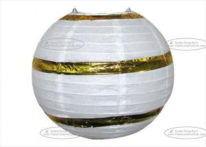 China Hot Stamp Printed Round Paper Lanterns , Circle Paper Lanterns For Decoration on sale
