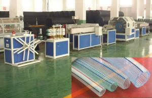 China Flexible PVC Pipe Extrusion Line , PVC Fiber Hose Pipe Making Machine on sale