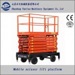4M to 18M height four wheels mobile scissor lift platform or lift table