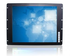 China Industrial 19 Rack Mount Monitor / LCD Panel Embedded Mount With VGA Input on sale