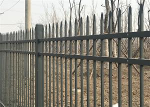 China Tubular Steel Security garrison fence panels 1800mm x 2400mm stocked for sale email us a price on sale