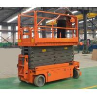 Upright Powered Hydraulic Man Lift Equipment With Emergency Stop Button