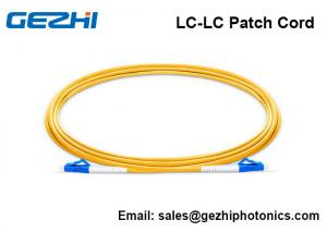 China Single Mode Fiber Patch Cable LC - LC Simplex 2.0mm PVC 9/125 Corning Fiber on sale