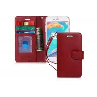 All Powerful Wine Red Genuine Leather Flip Case With Credit Card Pockets