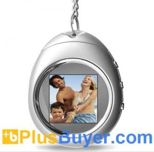 China PictureMax P1 - 1.5 Inch Keychain Digital Photo Frame with Clock - Silver on sale