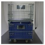 Lockable 1000mm Wire Storage Baskets With One Side Half Open Gate
