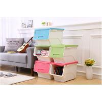 PP plastic open lid stackable storage box home storage for clothings new style of box