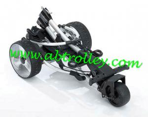 China Power Trolley Folding Golf Caddy With New Handle 36 Holes Battery Cheap on sale