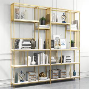China Modern Gold Metal Book Display Rack Customized Shape And Size on sale