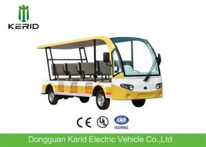 China Environmentally Friendly 11 Seater Mini Pure Electric Open Top Sightseeing Car 72V Motor For Public Area Transportation on sale