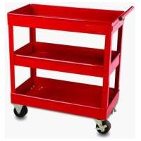 Easy to move Heavy Duty Red High Glossy Rolling Tool Cart with 3 Shelf