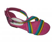 Rtail / Wholesale New Designs Top Quality Colorful PU Ladies Flat Sandals with 1.5cm Heels