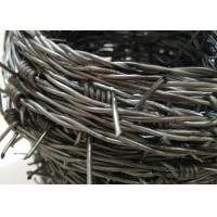 Hot Dipped Double Galvanized Barbed Wire With 4 Points For Military Base