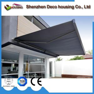 China Modern house motorized acrylic fabric retractable deck/patio awning on sale