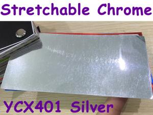 China Stretchable Chrome Mirror Car Wrapping Vinyl Film - Chrome Silver on sale
