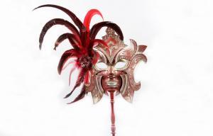 China Feather Stick Masquerade Masks on sale