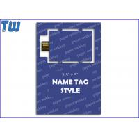 Simple Web Link Key USB Customized Tag Shape Printing Paper Card