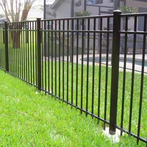 China Aluminum flat top fence/ railing for home and garden security railing on sale