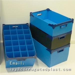 China Eco-friendly PP Plastic Handles Corrugated Boxes recycled & durable printing available on sale