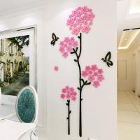 High quality factory Wall decal  Living Room Sofa cherry flower decoration wall decal stickers