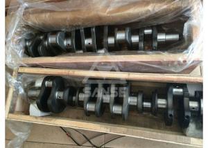 6D102 Engine Crankshaft , forged steel crankshaft for Komatsu PC200