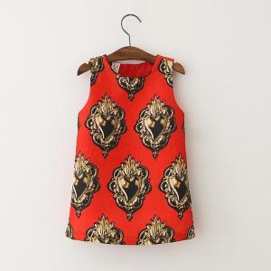 8d5426528 Angou European Girls Dresses Summer Baby Girls Dress Sleeveless New ...