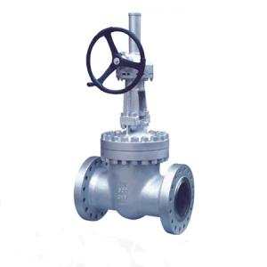China Bevel gear operated flange gate valve on sale