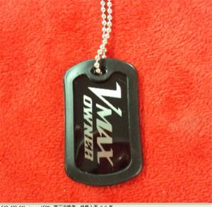 China Epoxy dome metal dog tags, branded logo promotional gift dog tags, customized dog tags, on sale