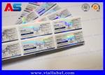 Custom Design Steroids Bottle Stickers , Glass Vial 3D Hologram Label Applied Anabolic Steroids10ml Bottles