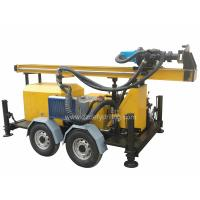 Manufacturer of DFQ-150W 150m Trailer Rock DTH down-to-hole Water Borehole Drilling Rig Machine