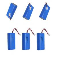 3.7 V Li Ion 18650 Rechargeable Battery / Robot Battery Pack , 500 Times Cycle Life