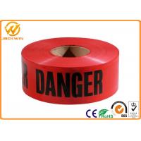 PE Red Danger Safety Warning Adhesive Barrier Tape for Construction Site / Traffic accident area