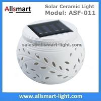 Solar Ceramic Night Light Color Changing LED Lights Rechargeable Waterproof Table Lamp Solar Party Lights Decorations
