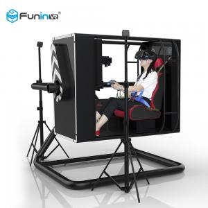 China Rudder Pedal Control VR Flight Simulator 6kw Electricity Power For Teenagers on sale