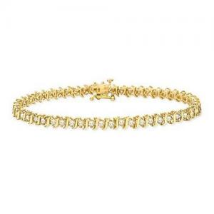 China 2 Carat Diamond 10K Gold Tennis Bracelet on sale