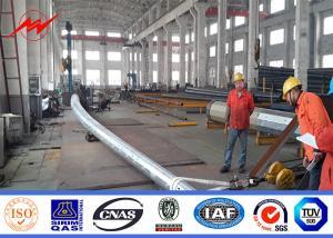 China 1-30mm Polygonal Steel Power Pole Hot - Dip Galvanization 30 Years Warrenty on sale