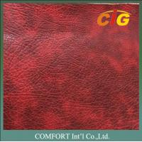 0.8mm 1.2mm Printed PVC Synthetic Leather Material For Sofa / Auto Seat