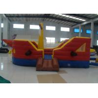 China Commercial Water Park Inflatable Pirate Ship Waterproof High Durability inflatable pirate boat jump house on sale