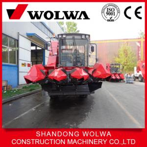 China 3 row Combine corn harvester WOLWA W4YM-3 wheel type self-loding on sale