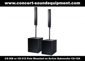 China 8 ohm 360W Conference Room Audio Systems 12x3 Aluminium Column Speaker For Church on sale
