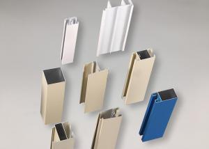 China Nigeria Anodize 6061 T5 Aluminum Door Profile Rustproof 8 - 10um Film Thicknes on sale
