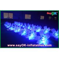 8m Colorful Inflatable Lighting Wedding Flower Chain Decoration In Stage