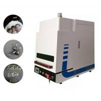 China Enclosed Desktop Type MINI Fiber Laser Marking Machine for Industrial Marking 20W on sale