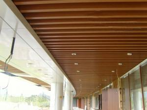 China teto composto plástico de madeira artístico da Traça-prova para a decoração interna on sale
