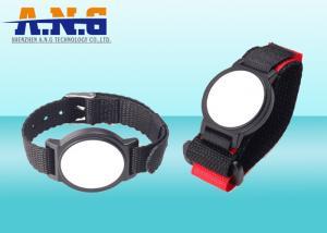 China Nylon rfid wrist band , rfid concert wristbands / arm tag easy to take on sale