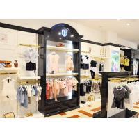 Durable Kids Retail Clothing Fixtures Garment Shop Wood Adjustable Shelves