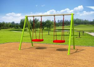 China Galvanized Steel Swing Sets / Kids Outdoor Swing Set 7-10 Years Service Life on sale