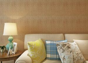 China Strippable Washable 3D Bamboo Weaving Wall Covering PVC Wallpaper on sale