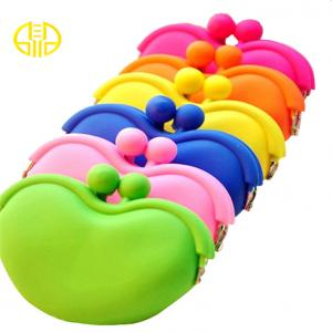 China Colorful women Silicone Coin Purse / Case imprinted logo on sale